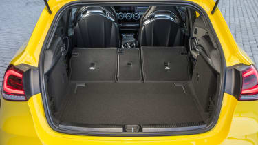 Unlike some four-wheel drive rivals, the system fitted to the A 35 doesn't intrude on interior space