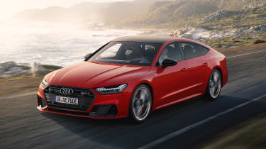 Audi A7 plug-in hybrid driving