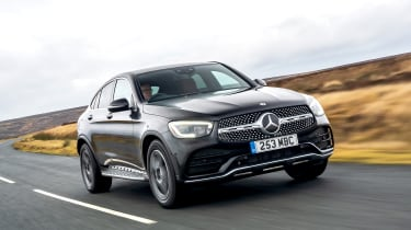 Mercedes GLC Coupe SUV - front 3/4 tracking