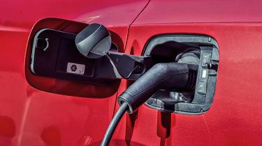Bentley Bentayga Hybrid charging port