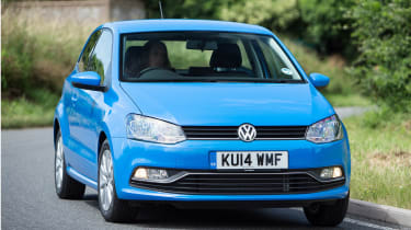 The Volkswagen Polo is one of the most upmarket superminis