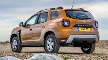 2018 Dacia Duster rear three-quarter