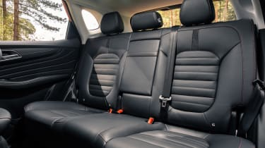 MG HS SUV rear seats