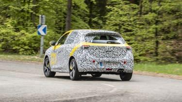 Vauxhall Corsa prototype - three quarter rear view