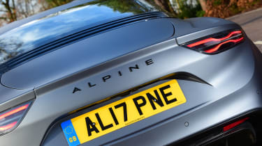 Alpine A110S rear end