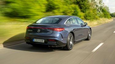 Mercedes EQS hatchback rear 3/4 dynamic