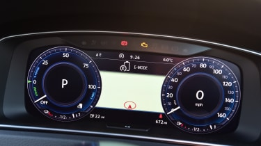 It displays different information depending on which driving mode is selected