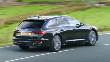 Audi A6 Avant driving - rear