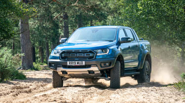 Ford Ranger Raptor pickup front off-road