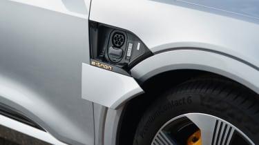 Audi e-tron Sportback SUV charging flap