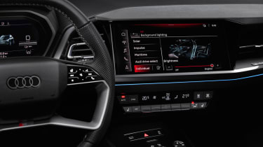 2021 Audi Q4 e-tron SUV dashboard close