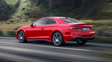 Audi S5 Coupe rear 3/4 tracking