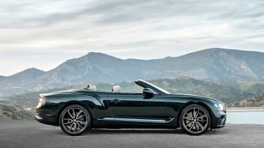 Bentley Continental GT Convertible roof down