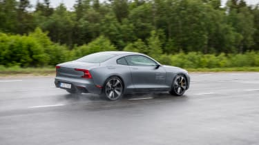 2019 Polestar 1 prototype - rear 3/4 passing