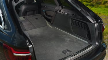 Audi A6 Avant boot with seats down