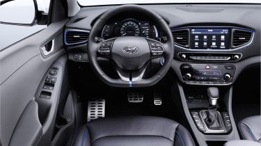 Inside, the Ioniq doesn't look radically futuristic –something many potential buyers will welcome