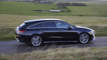 Mercedes CLA Shooting Brake driving - side view
