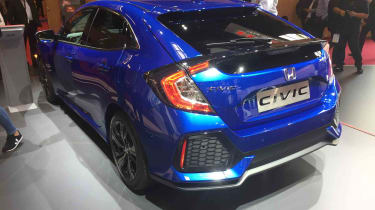 The aggressive style of the new Honda Civic is highly distinctive