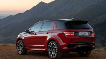 Land Rover Discovery Sport SUV rear 3/4 static