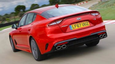 Kia Stinger GT-S rear quarter view