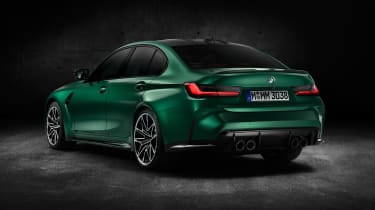 2021 BMW M3 Competition saloon - rear 3/4 static