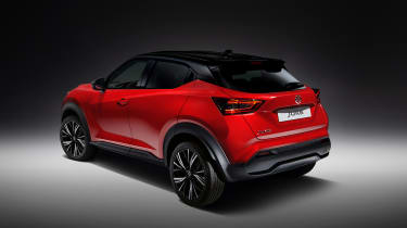 New Nissan Juke in red - rear view