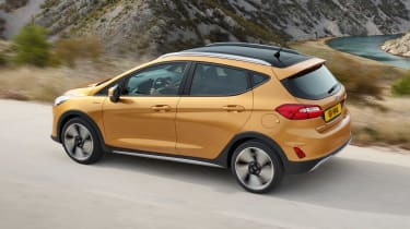 The Fiesta is first Ford with Pedestrian Detection that can help prevent collisions at night