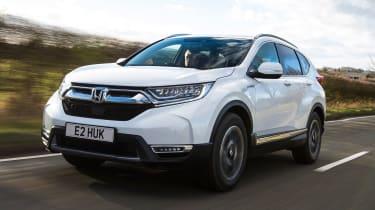honda cr-v hybrid suv front tracking