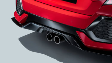 The Honda Civic Sport has racy twin exhaust exits