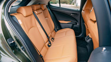 Lexus UX 300e SUV rear seats