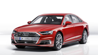 The new Audi A8 competes with the Mercedes S-Class and BMW 7 Series for luxury saloon sales