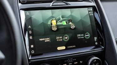 Jaguar E-Pace SUV review hybrid display