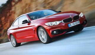 BMW 4 Series coupe 2013 front quarter tracking