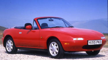 The first-generation Mazda MX5 (NA) wore its influnces on its sleeve – most notably the British Lotus Elan of the 1960s.