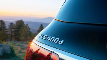 Mercedes GLS SUV rear badge