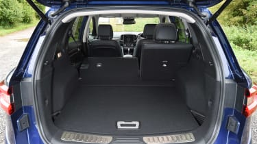 The top trim level adds a powered tailgate, which can open automatically if you wave your foot under the back bumper