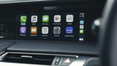 Lexus LC Convertible infotainment display
