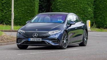 Mercedes EQS hatchback front cornering