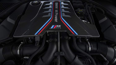 BMW M8 Competition coupe - engine bay