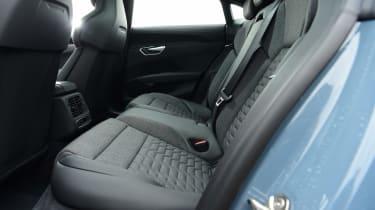 Audi e-tron GT saloon review rear seats