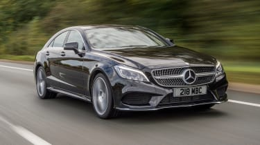 Mercedes CLS - front 3/4 driving