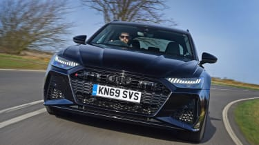 Audi RS6 Avant estate front tracking