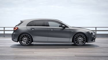 2020 Mercedes A-Class Exclusive Edition and Exclusive Edition Plus - side view static