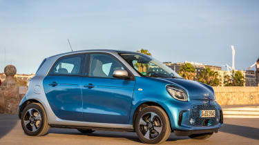 Smart EQ ForFour hatchback side static sun