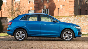 The Q3's size pits it against the Volkswagen Tiguan, BMW X1, Mercedes GLA and Range Rover Evoque