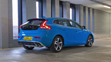 The rear lights and broad hips make the V40 instantly recognisable as a Volvo