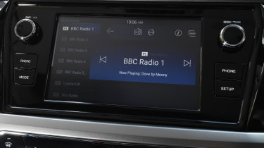 SsangYong Korando SUV infotainment display