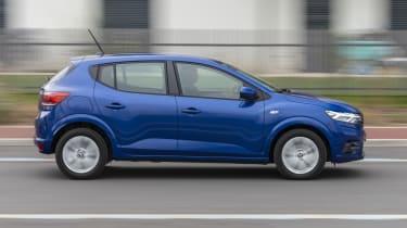 2021 Dacia Sandero - side on view