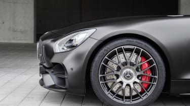 The GT C also has a wider rear axle than the standard GT, which also increases grip