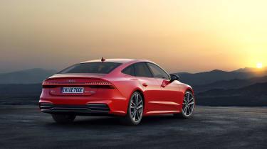 Audi A7 plug-in hybrid rear view